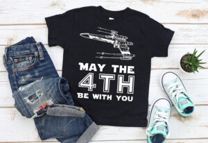 Looking for a cool DIY tee for Star Wars Day? Check out two free SVG and other cut files - May the Fourth be With You!