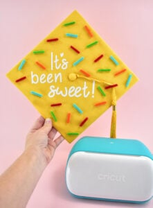 Once you've covered the full mortar board to your liking, you're done. That's seriously it but isn't it seriously sweet?!?