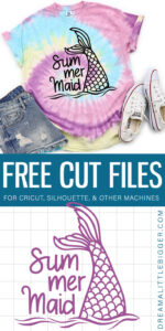 Ready for some fun in the sun? You'll definitely want this adorable Sum Mer Maid cut file to make vacation ready tees!