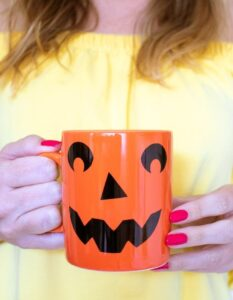 Halloween Crafts for Adults - Jack O Lantern Mug by Club Crafted