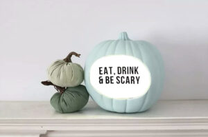 Halloween Crafts for Adults - Marquee Pumpkin by Shrimp Salad Circus
