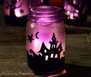 Halloween Crafts for Adults - Mason Jar Luminaries by Oh So Savvy Mom