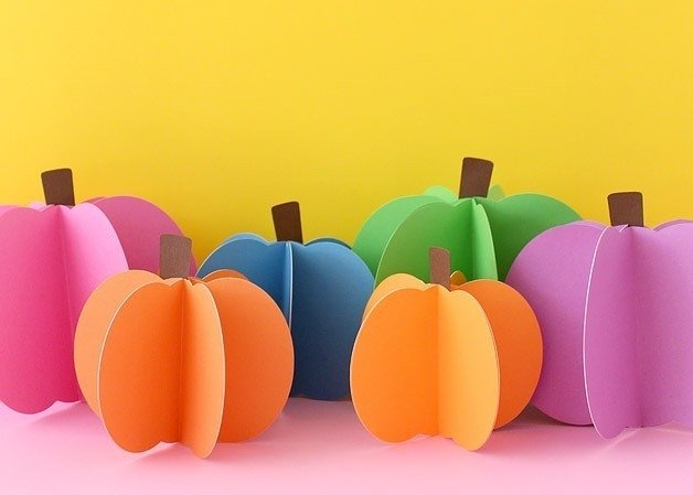 Halloween Crafts for Adults - Paper Pumpkins by White House Crafts