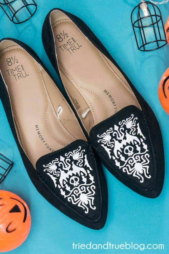 Halloween Crafts for Adults - Shoes by Tried and True