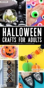 Halloween Crafts for Adults - a round up of Halloween projects you will love!