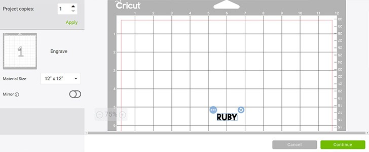 In design space, when sending the design to your Maker, edit the mat to reflect the design in the exact same place as you placed the actual tag on the mat.