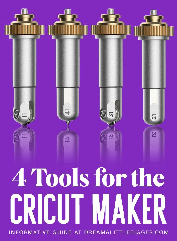 The 4 new tools for the Cricut Maker are awesome! Learn more about engraving, debossing, perforation and cutting wavy lines with your Cricut Maker!