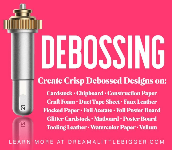 Deboss over 40 materials with this new Cricut Maker Tool to give a little bit of extra flair to your home DIY projects.